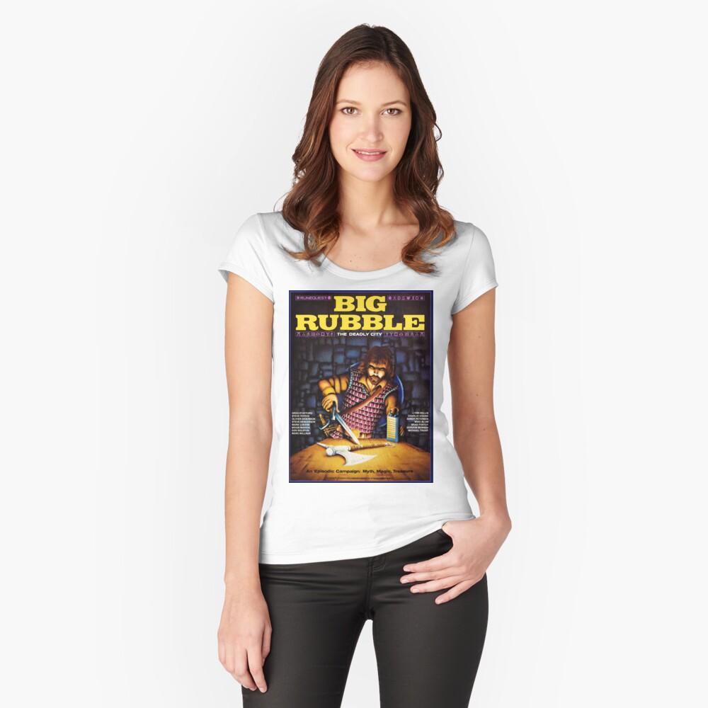Gran cubierta de escombros Camiseta entallada de cuello ancho