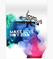 Make Love Not War M16 Poster