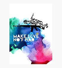 Make Love Not War M16 Photographic Print