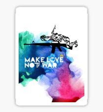 Make Love Not War M16 Sticker