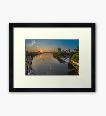 The Charles River near Boston University. Framed Print
