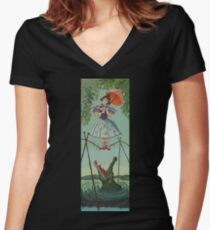Haunted Mansion Tightrope Girl  Women's Fitted V-Neck T-Shirt