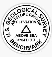 Antelope Canyon, Arizona USGS Style Benchmark Sticker