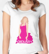 """""""I Know About Popular"""" Galinda, Wicked Women's Fitted Scoop T-Shirt"""