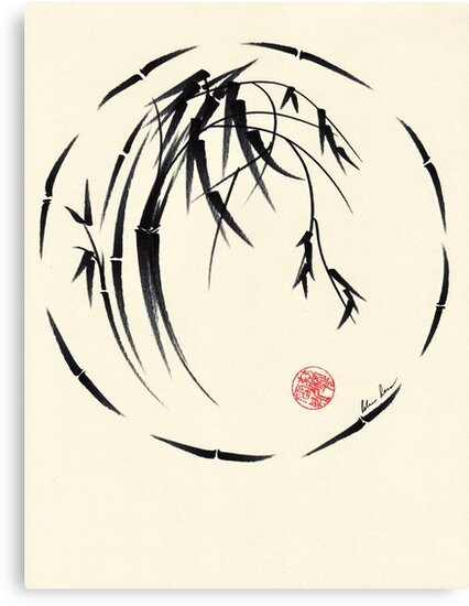 """Beauty"" sumie ink brush pen painting by Rebecca Rees"