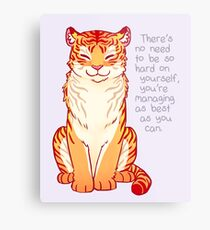 """""""You're Managing as Best as You Can"""" Tiger Metal Print"""