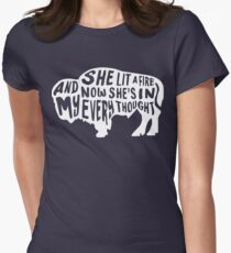 She Lit a Fire Women's Fitted T-Shirt
