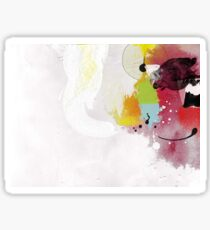 Untitled 1 Abstract Contemporary Sticker