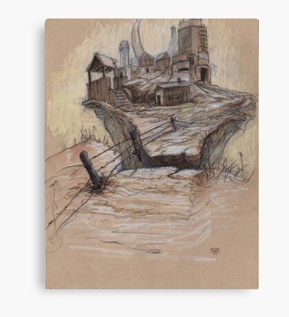The Splinter Rock Factory Canvas Print