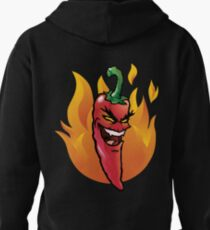 Evil red hot chili pepper Pullover Hoodie