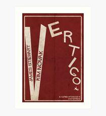 Vertigo - Poster minimalista, Alfred Hitchcock - James Stewart, Kim Novak, póster de pelicula, cartel retro, ilustración Lámina artística