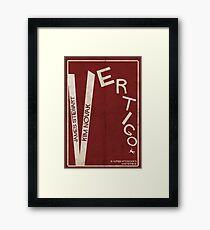 Vertigo - Poster minimalista, Alfred Hitchcock - James Stewart, Kim Novak, póster de pelicula, cartel retro, ilustración Lámina enmarcada