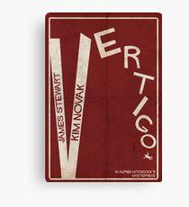 Vertigo - Poster minimalista, Alfred Hitchcock - James Stewart, Kim Novak, póster de pelicula, cartel retro, ilustración Lienzo