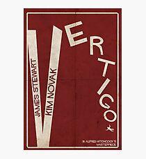 Vertigo - Poster minimalista, Alfred Hitchcock - James Stewart, Kim Novak, póster de pelicula, cartel retro, ilustración Lámina fotográfica