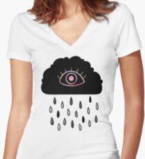Eye Cloud Women's Fitted V-Neck T-Shirt