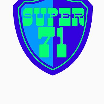 Super 71 - Shield - Blue by timtopping
