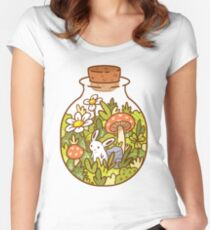 Bunny in a Bottle Women's Fitted Scoop T-Shirt