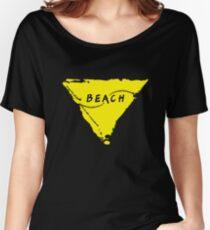 Beach (yellow) Women's Relaxed Fit T-Shirt