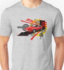 Porsche 924 T-shirt 'Explosion' Unisex T-Shirt