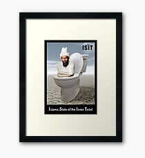 Islamic State of the Inner Toilet Framed Print