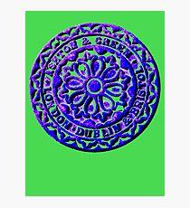 Coalhole cover - large blue logo Photographic Print
