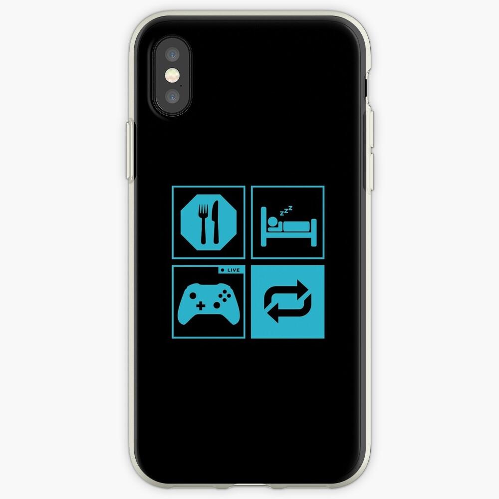 Essen, schlafen, Spiel, wiederholen. iPhone-Hülle & Cover