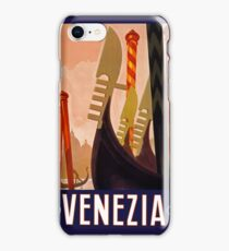 Venezia Vintage Travel Poster c 1920 PD iPhone Case/Skin
