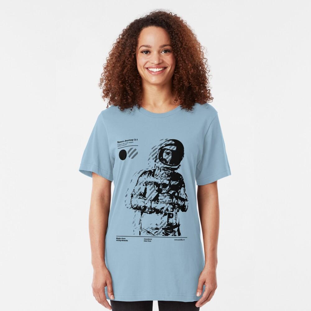 Space Journey 3.1 (black Slim Fit T-Shirt