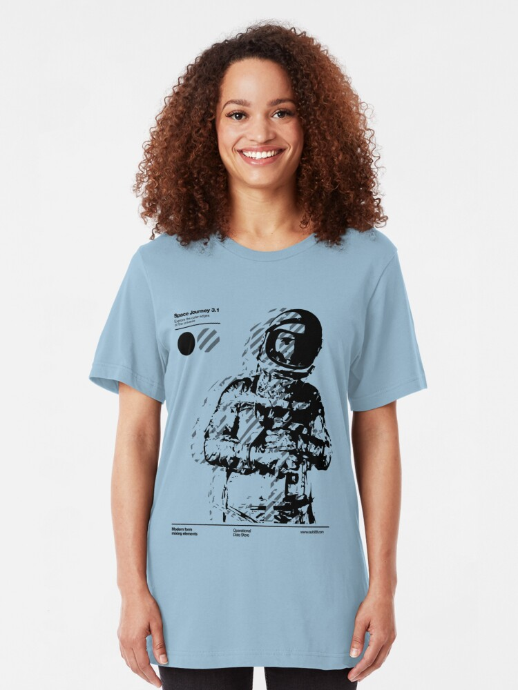 Alternate view of Space Journey 3.1 (black Slim Fit T-Shirt
