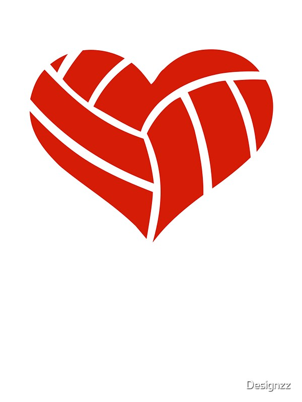 Volleyball Heart Stickers By Designzz Redbubble
