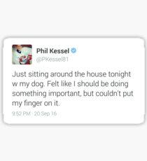 the iconic phil kessel tweet Sticker
