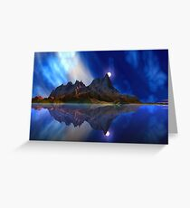 Moonrise Accension Island. Greeting Card