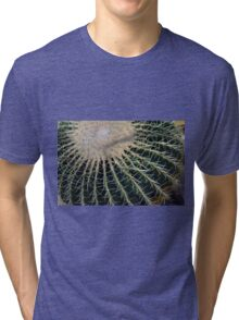 Detail of round cactus Tri-blend T-Shirt