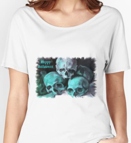 Happy Halloween Pile of Skulls After Cezanne Women's Relaxed Fit T-Shirt