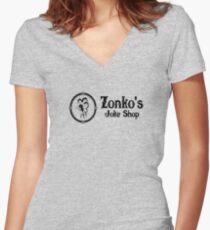 Zonkos Joke Shop Women's Fitted V-Neck T-Shirt