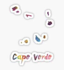 Cape Verde in watercolor Sticker