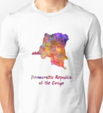 Democratic Republic of the Congo  in watercolor Unisex T-Shirt