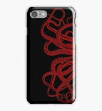 Red Vintage Octopus  Tentacles Illustration iPhone Case/Skin