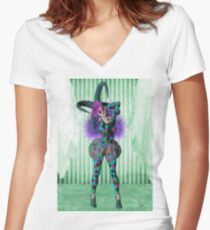 Jester woman Women's Fitted V-Neck T-Shirt