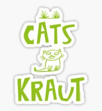 CATS KRAUT,Katze, little cat,sweet cat,süße Katze,funny Sticker