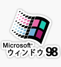 Microsoft Windows 98 Vaporwave Sticker