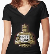 Free Hugs by The Mountain Women's Fitted V-Neck T-Shirt