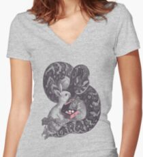 Cupcake? Women's Fitted V-Neck T-Shirt