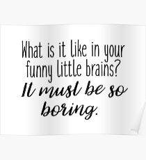 Sherlock - what it is like in your funny little brains? Poster