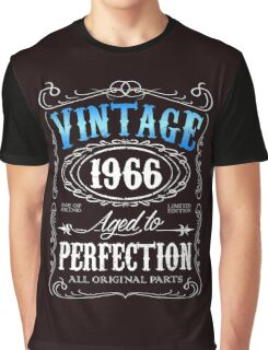 50th birthday gift for men Vintage 1966 aged to perfection 50 birthday Graphic T-Shirt