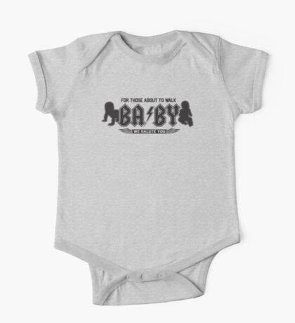 AC/DC Inspired - BABY For Those About to Walk One Piece - Short Sleeve