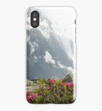 Pink Flowers on the Tour de Mont Blanc iPhone Case/Skin