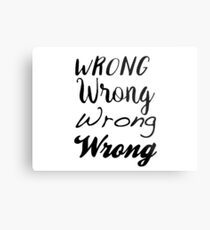 Sherlock - Wrong, Wrong, Wrong, Wrong Metal Print