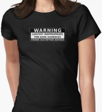Content Inappropriate for Some Audiences Warning T-Shirt