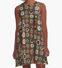 Brown Spirals A-Line Dress